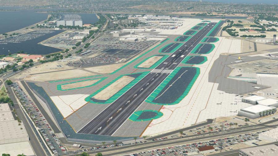 San Diego Airport Runway Map